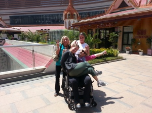 Tiffany, Neighbor Sandra, Mom and me at Carrefour Shopping Plaza