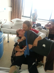 Sisterly love in the hospital