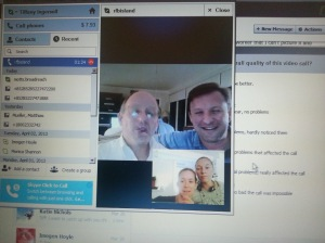 Technology at its best... Brothers and sisters Skype being from across the world together