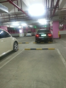 In Chinese car garages they have little red and green lights over the parking spots just in case you can't see if there's a car in that spot