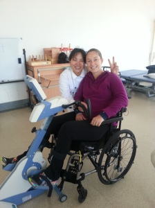 ShenJie and me riding the bike. Yes, the Peacesign is a universal Chinese thing when taking pictures!