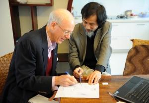 Dad & Dr. Wu Tianwu, M.D./P.H.D From Hongkong University