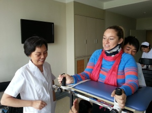May 30 - standing after 15 days of surgery with Dr Zhu