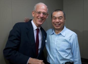 Dad & Liu - Post Surgery